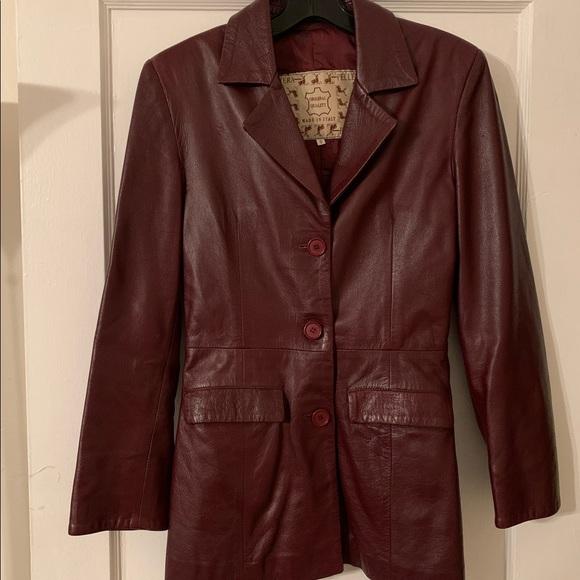 Vera Pelle Jackets & Blazers - Vintage Vera Pelle Italian Leather Jacket Sz S